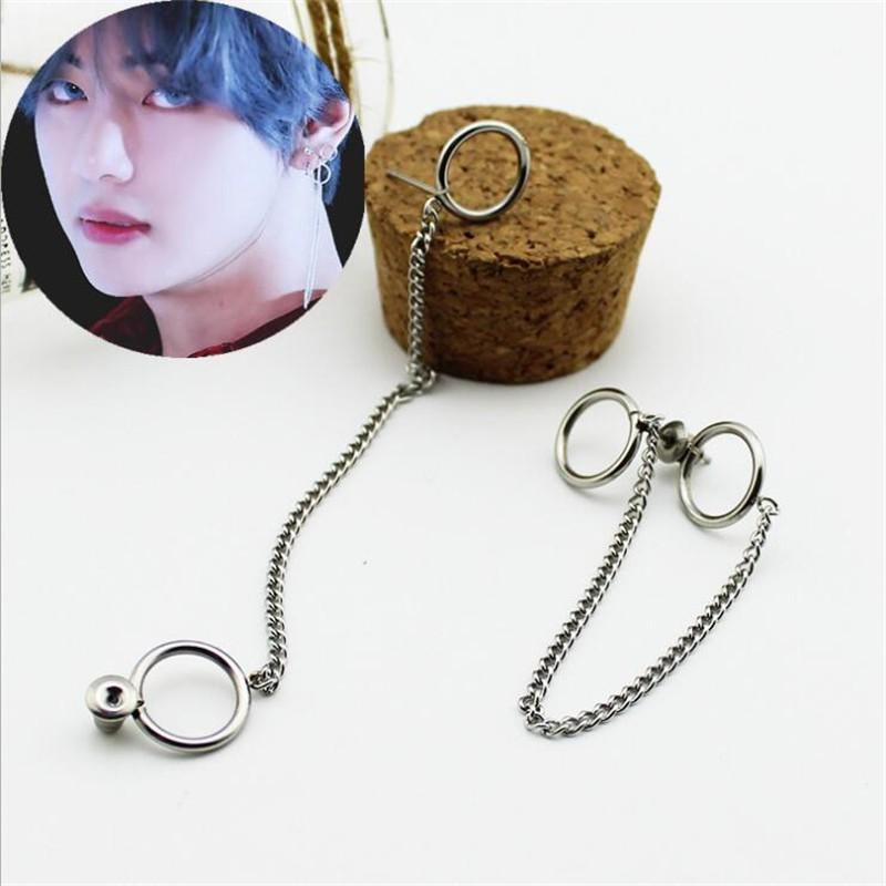 7fc9c9163 1Pair BTS V Earring Bangtan Boys Hoop Earrings BTS Accessories | Shopee  Philippines