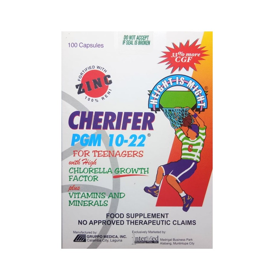 Cherifer PGM 10-22 for Teenagers 100 Capsules