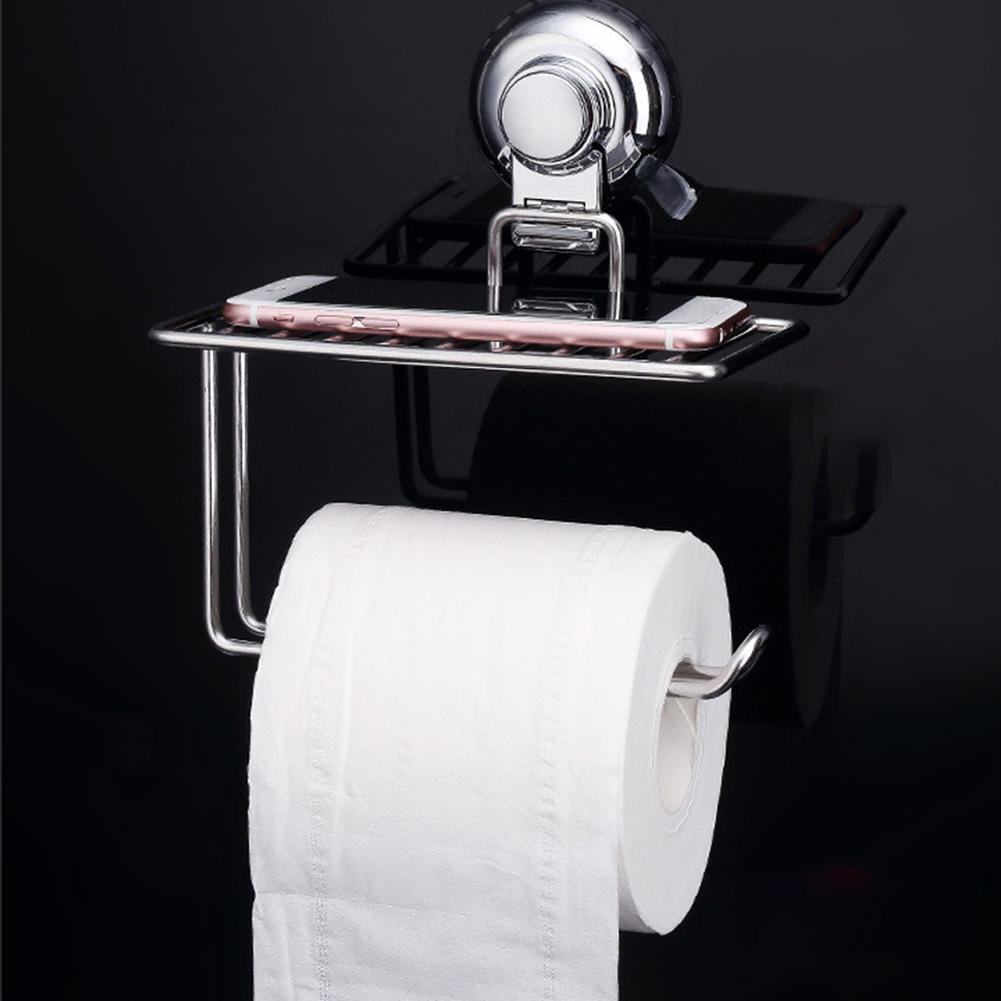 White Multi-function Bathroom Toilet Paper Holder Place Mobile Phone Toilet Paper Dispenser Tissue Box Cleaning The Oral Cavity. Paper Holders