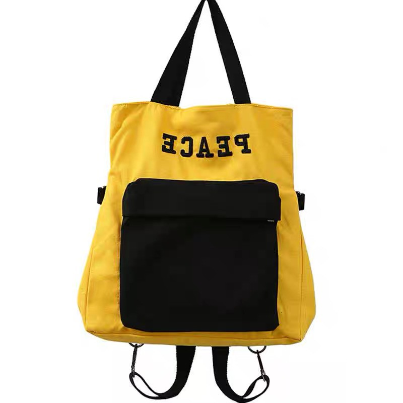 fa2266aadef7 FRNC PEACE Canvas Tote Pack Korean Bag (Unisex)