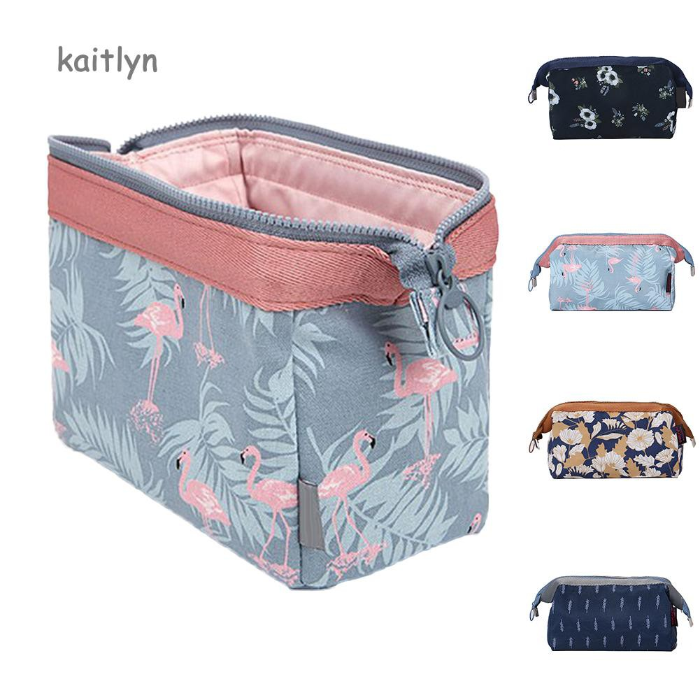09d5dbde373  COD New Fashion Flamingo Flower Print Makeup Brushes Holder Bag Pouch  Portable Gift