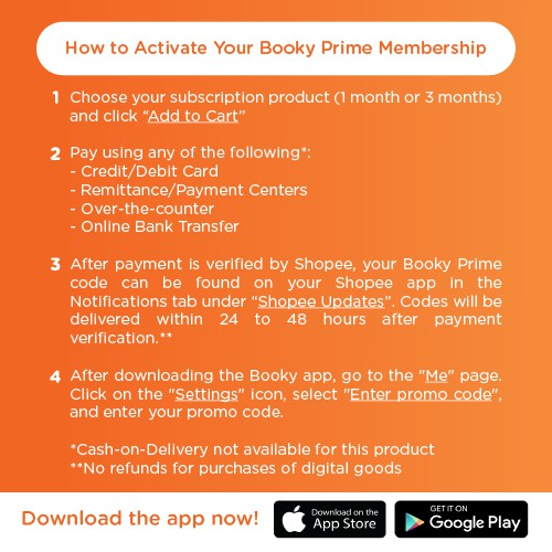 Booky Prime 1-Month Subscription | Shopee Philippines