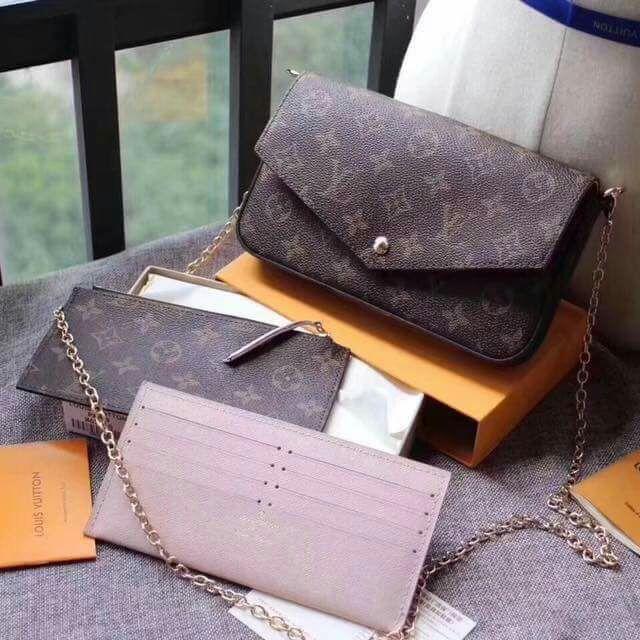 Louis Vuitton Pochette Felicie Sling Bag Chain (9A)  3fe1cdc7f2564
