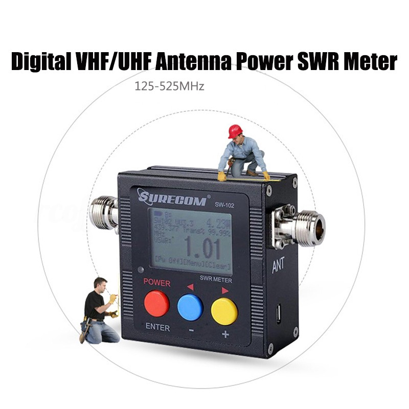 SW-102 125-525Mhz Digital VHF/UHF Antenna Power SWR Meter