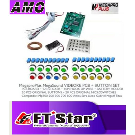 Pcb Remote   Button Set For Videoke Machine Megapro Plus