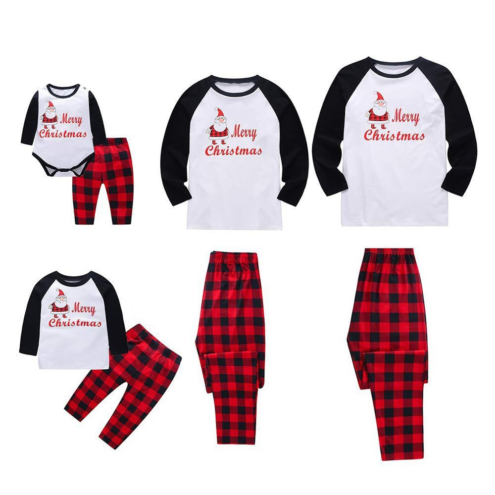 Voberry Matching Family Pajamas Christmas Boys and Girls Jammies Baby Clothes Mum and Father