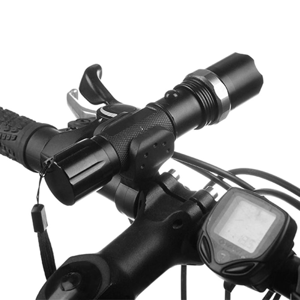 [H] Black Bicycle Light Lamp Stand Holder Rotation Grip LED Flashlight  Torch Clamp