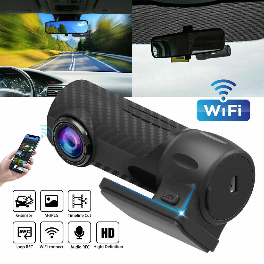 FHD 1080P WIFI Car Dual Len Hidden DVR Camera G-Sensor Motion Detection Dash Cam
