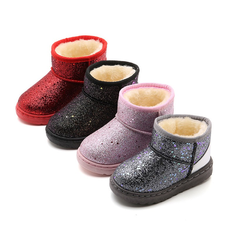 bf3bcf7dcbe26c Winter new Kids Snow Boots Bling Baby Shoes VY0163
