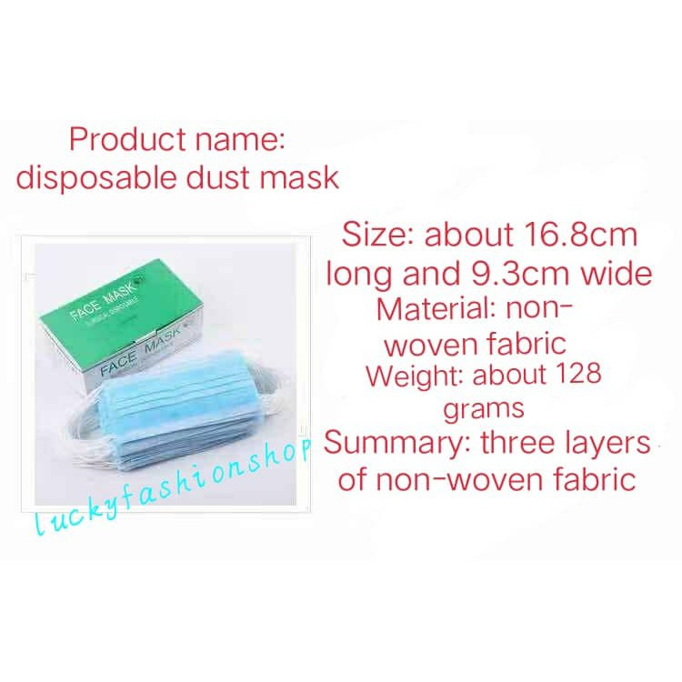 Easy Surgical 50pcs box Disposable Mask Face Medical Mcneil