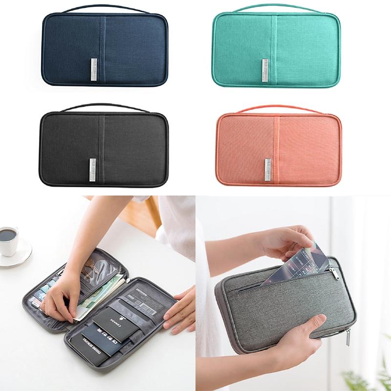 Passport Holder Cover RFID Organiser Pouch Card Holder Wallet Bag Travel Purse