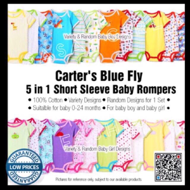 801b5eedd411 5pcs Pack Carters Bodysuit 100% Cotton Baby Boy Girl Onesies ...