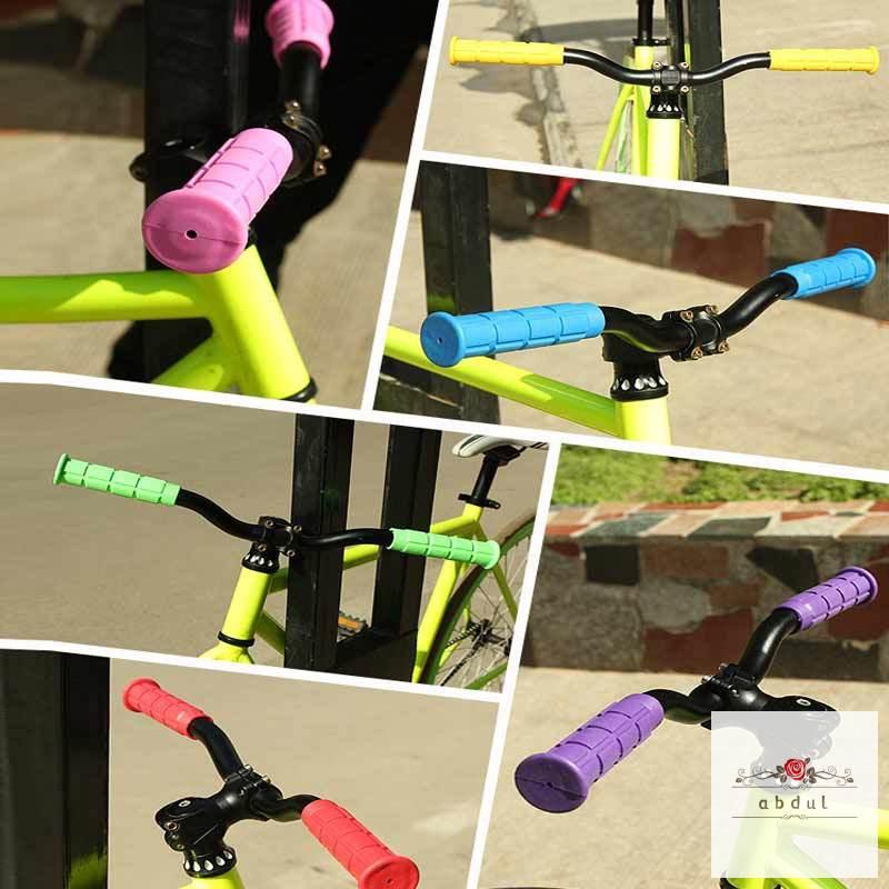 1Pair BMX MTB Bike Mountain Bicycle Handle Handlebar Soft Rubber Bar End Grips