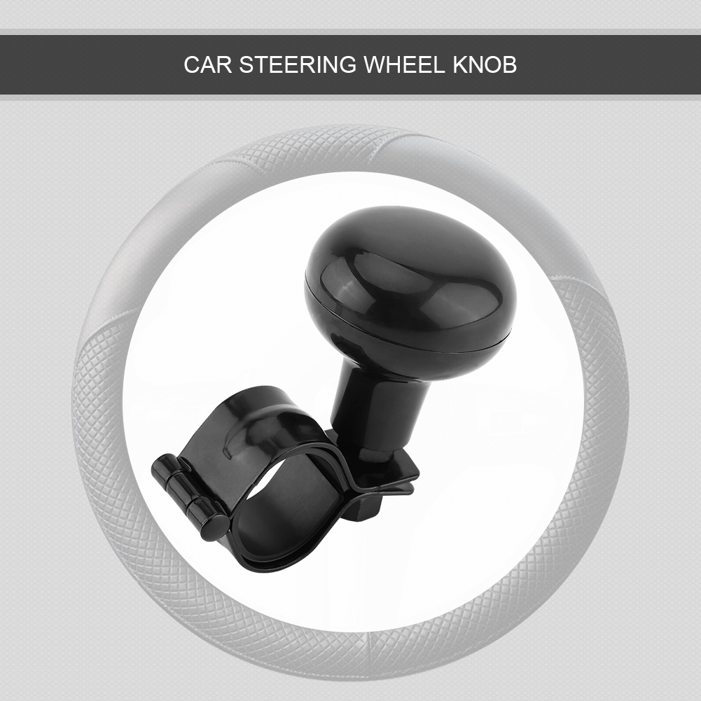 Black Universal Car Heavy Duty Steering Wheel Knob Spinner Handle Ball Steering Wheel Knob