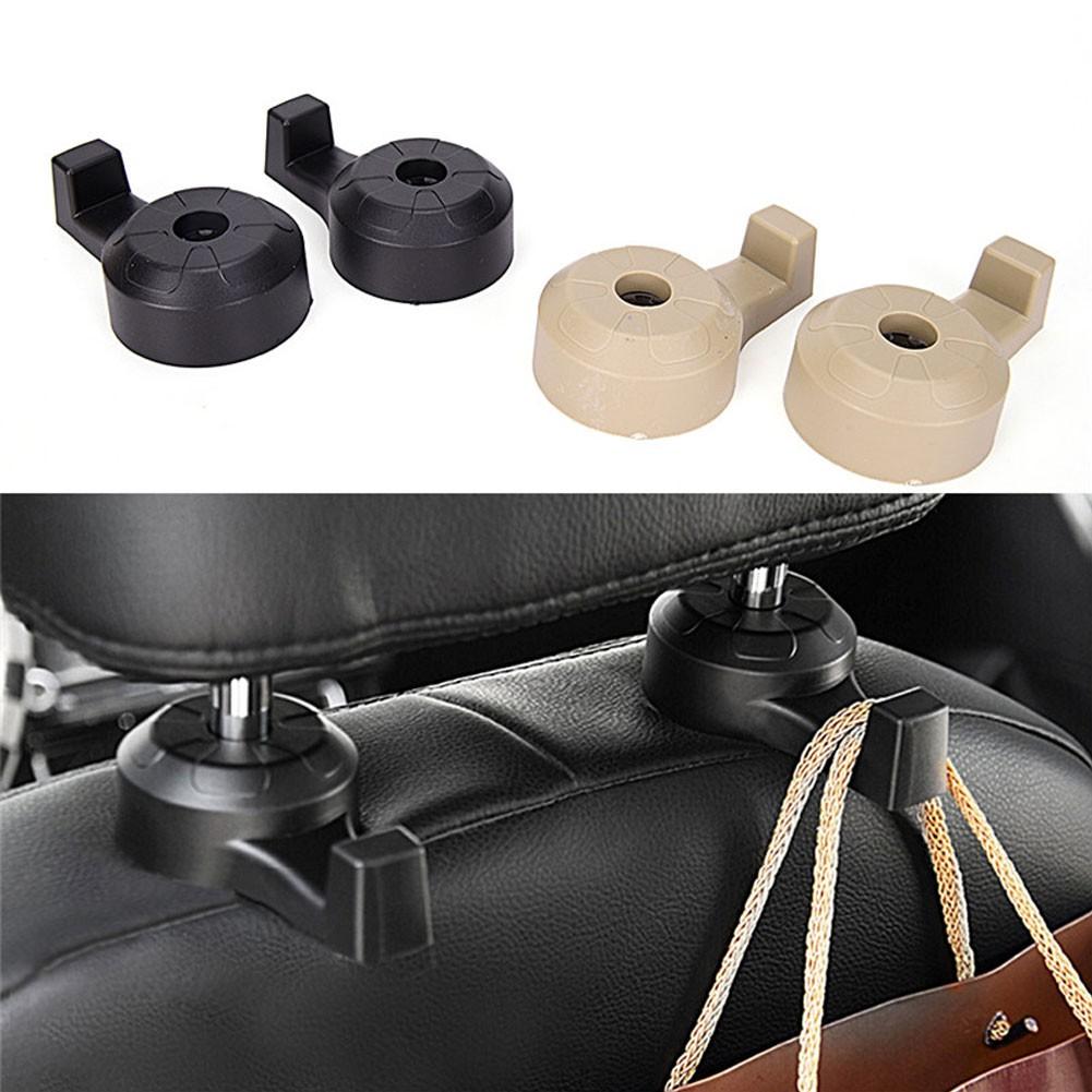 2pcs Car Auto Seat Hanger Headrest Hook Purse Bag Coat Organizer Holder Metal