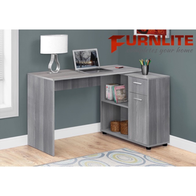 Furnlite Home Office Computer Table W Cabinet Shopee Philippines