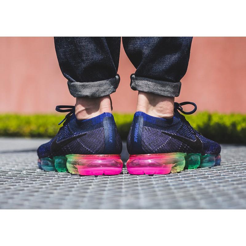 sports shoes aa562 6f581 Nike Air Vapormax Flyknit 2018 Be True Rainbow Men Running Women Shoes  Sport Sneaker size 36-45
