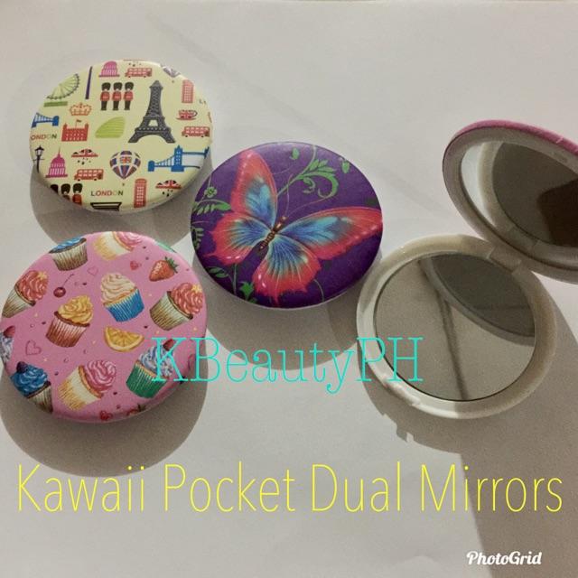 SALE!!! Must-Have Kawaii Pocket Dual Mirrors Cute Designs