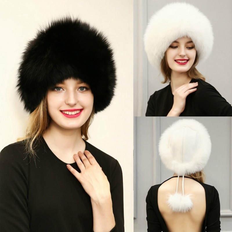 77099c8e30 Winter Snow Russian Fur Hat for Women and Men Bomber Hats Re