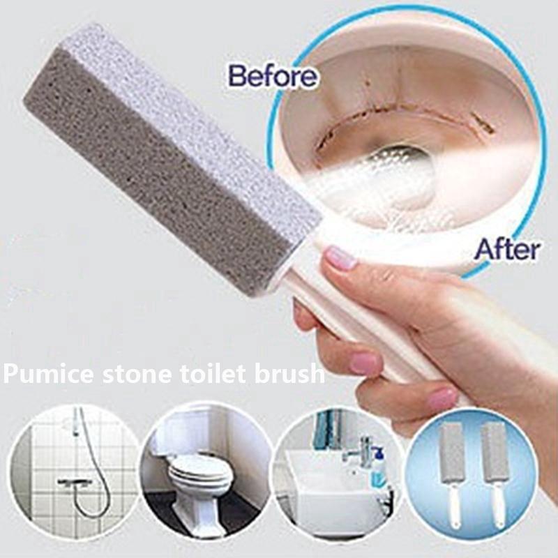 2pcs Practical Water Toilet Bowl Pumice Stone Cleaner Brush