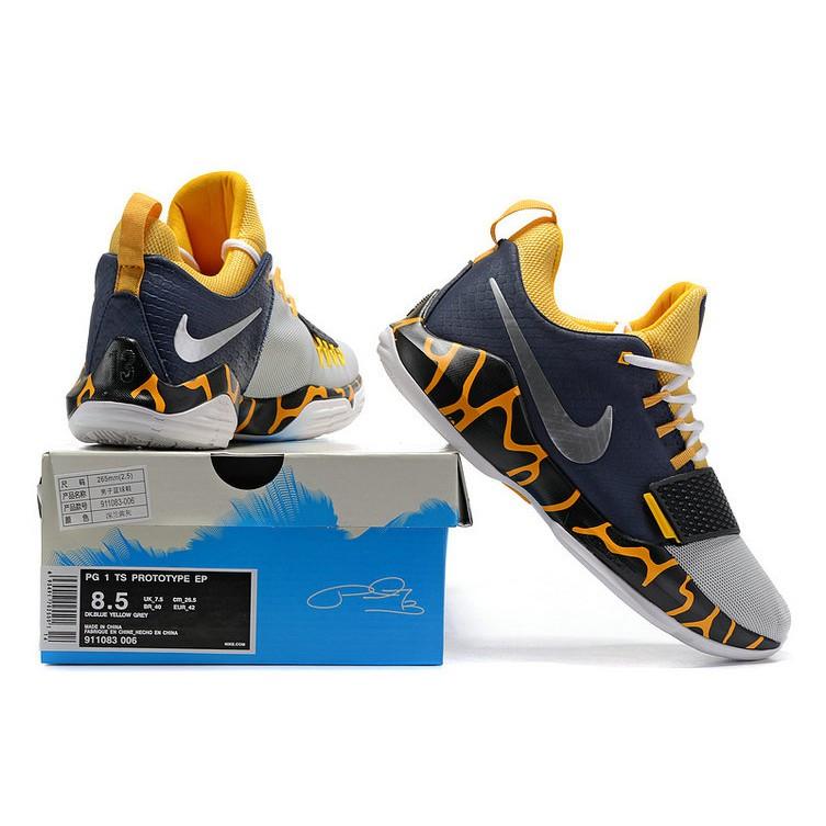 buy popular 65e7c d3486 Nike men shoes PAUL GEORGE PG 1 EP dark blue yellow