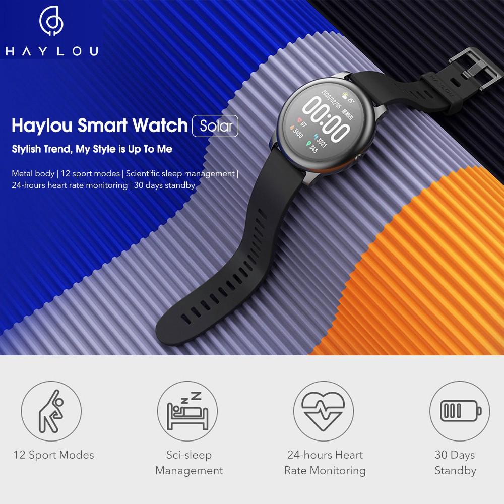 Original Xiaomi Youpin Haylou Solar Ls05 Smart Watch Haylou Smartwatch 15 Days Battery Life International Version Black Shopee Philippines
