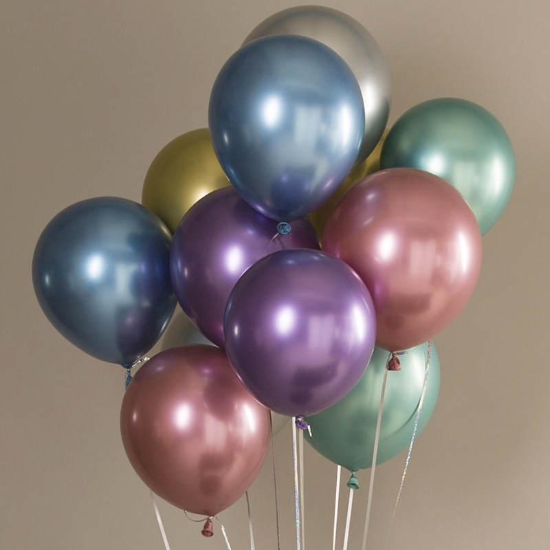 10Pcs Latex Balloon Metallic Thicken Balloons Wedding Birthday Party Decorations