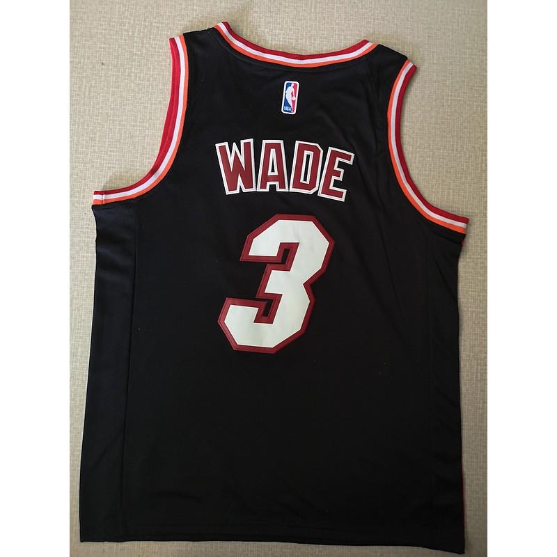 huge discount 83a4c beef7 Nike Dwyane Wade Miami Heat White Jersey #3