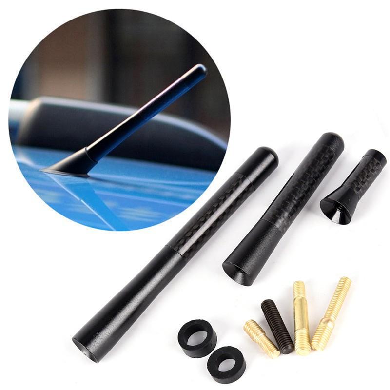 """1.4/"""" 3.5cm Universal Carbon Fiber Short Screw-in Car AM//FM Antenna Aerial Mast"""