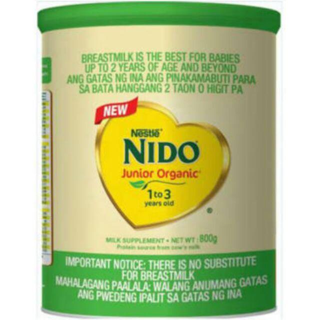 Nestle Nido Junior Organic 1-3 yrs 800g