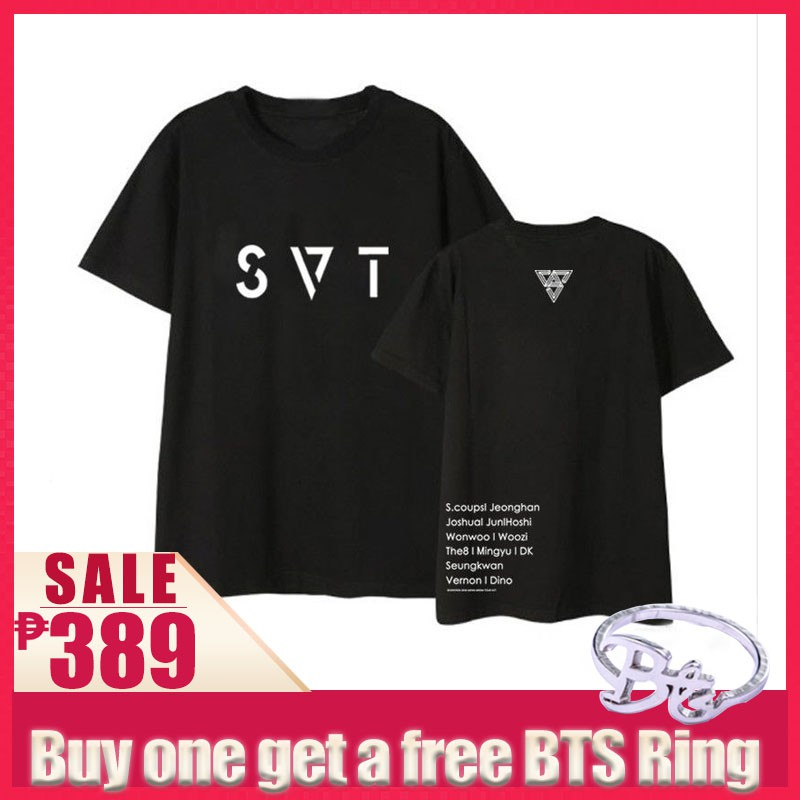 4e9e8c6c12df JN503 Seventeen 2018 JAPAN ARENA SVT Tshirt Top | Shopee Philippines