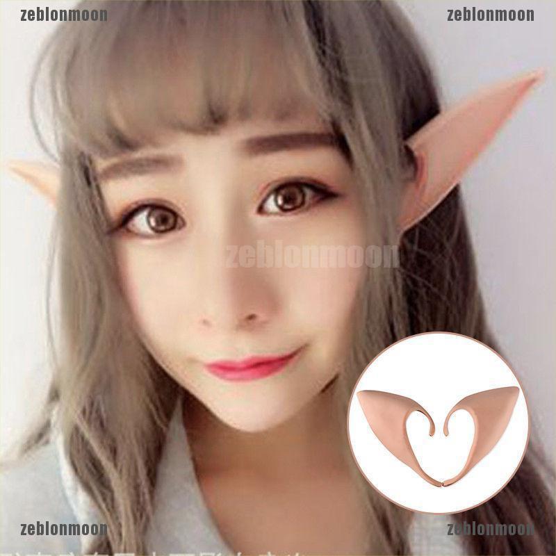 Latex Prosthetic Fairy Pixie Elf Ear Halloween Costume Cosplay Stage Prop