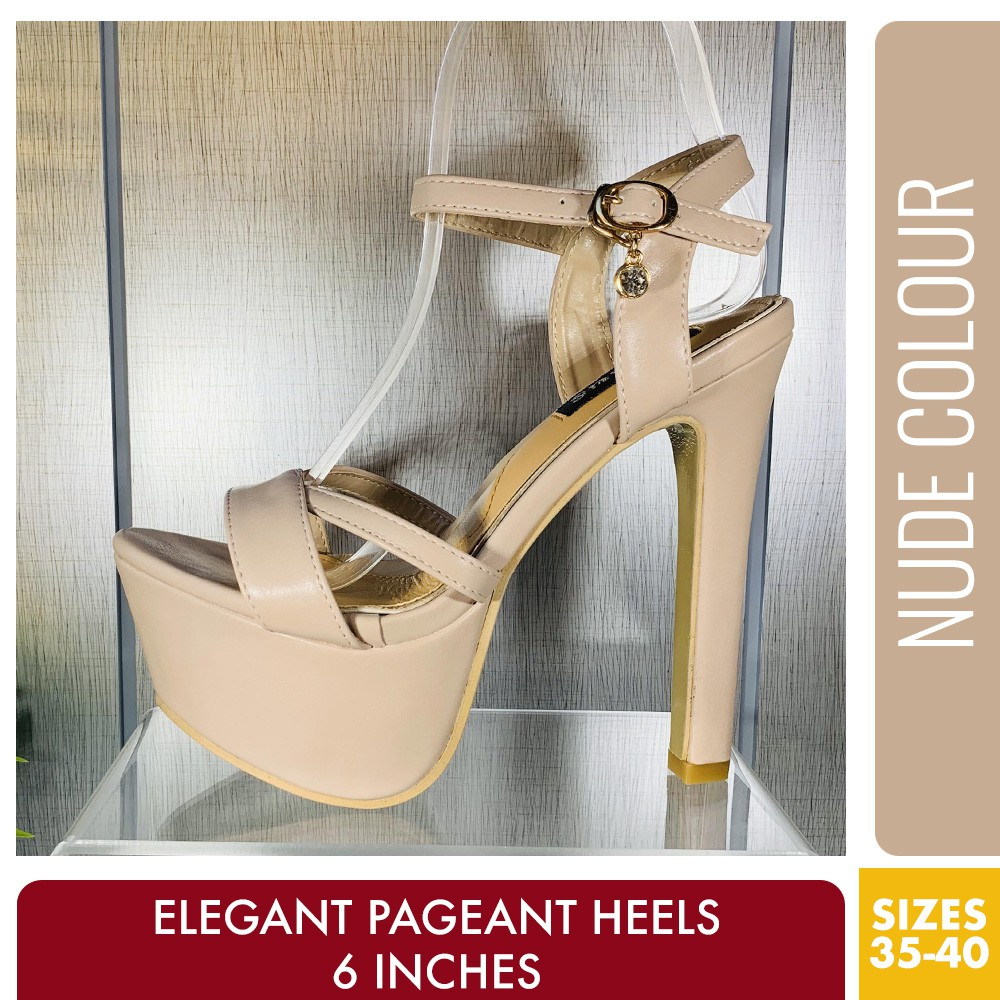 Heels Style Pageant Nude Color Inches Sexy 6 xBrCdoe