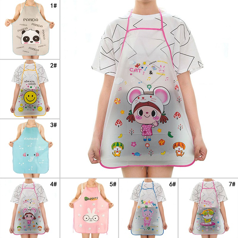 ffd93afda90e Cute Cartoon Animal Waterproof Apron Kitchen Restaurant Cooking ...