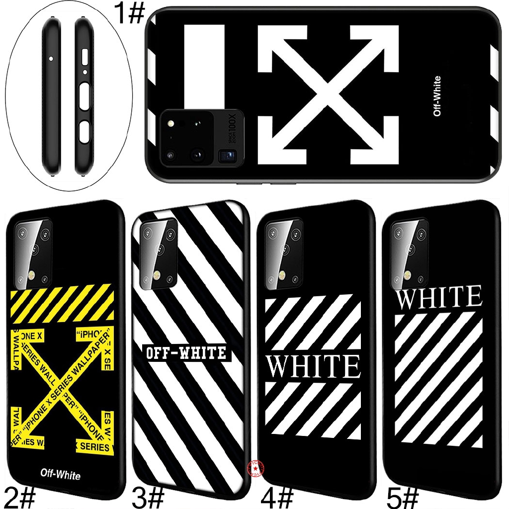 Ly98 Off White Black Soft Silicone Cover For Samsung Galaxy S8 S9 S10 S20 Ultra Plus Lite Shopee Philippines