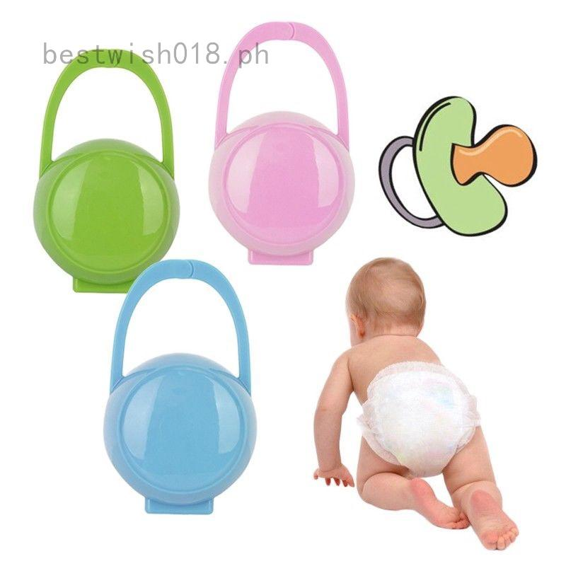 3PCS Baby Infant Soother Holder Pacifier Dummy Box Travel Storage Case Gifts UK
