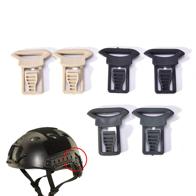 2x Fast Helmet Vision Goggle Buckles Clips Airsoft Tactical Helmet Accessorie 0c