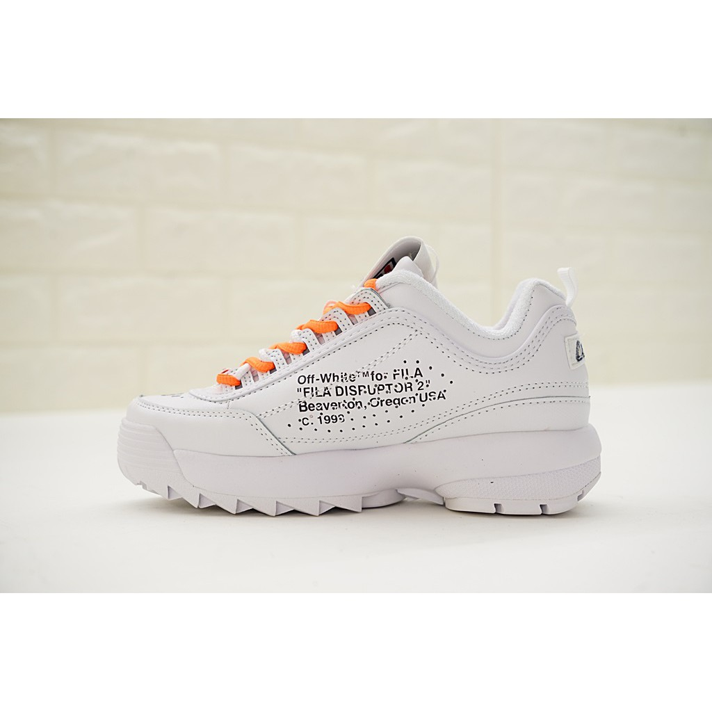 Offwhite x FILA Disruptor II sneakers for men and women