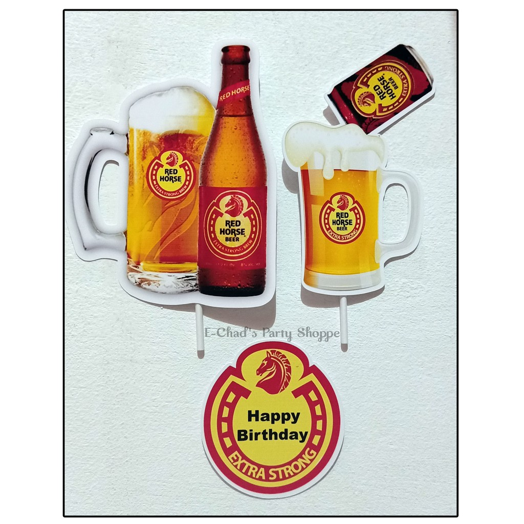 Redhorse Cake Topper Set Shopee Philippines