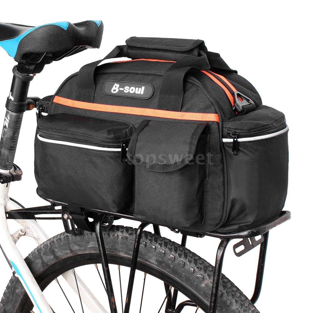 Bicycle Rear Rack Bag Bike Tail Rear Seat Trunk Bag Side Panniers Pouch 15L bags