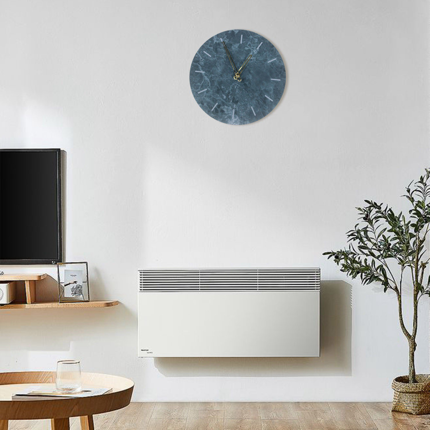 Nordic Marble Wall Clock Ern Minimalist Bedroom Art Clocks Personality Creative Living Room Fashion Wall Watch Grey Shopee Philippines