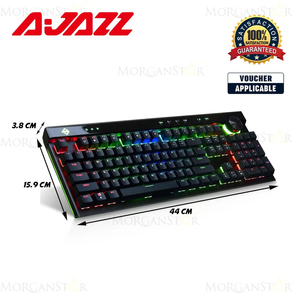 Ajazz Ak45 Rgb Mechanical Keyboard Red Switch Black Shopee Philippines
