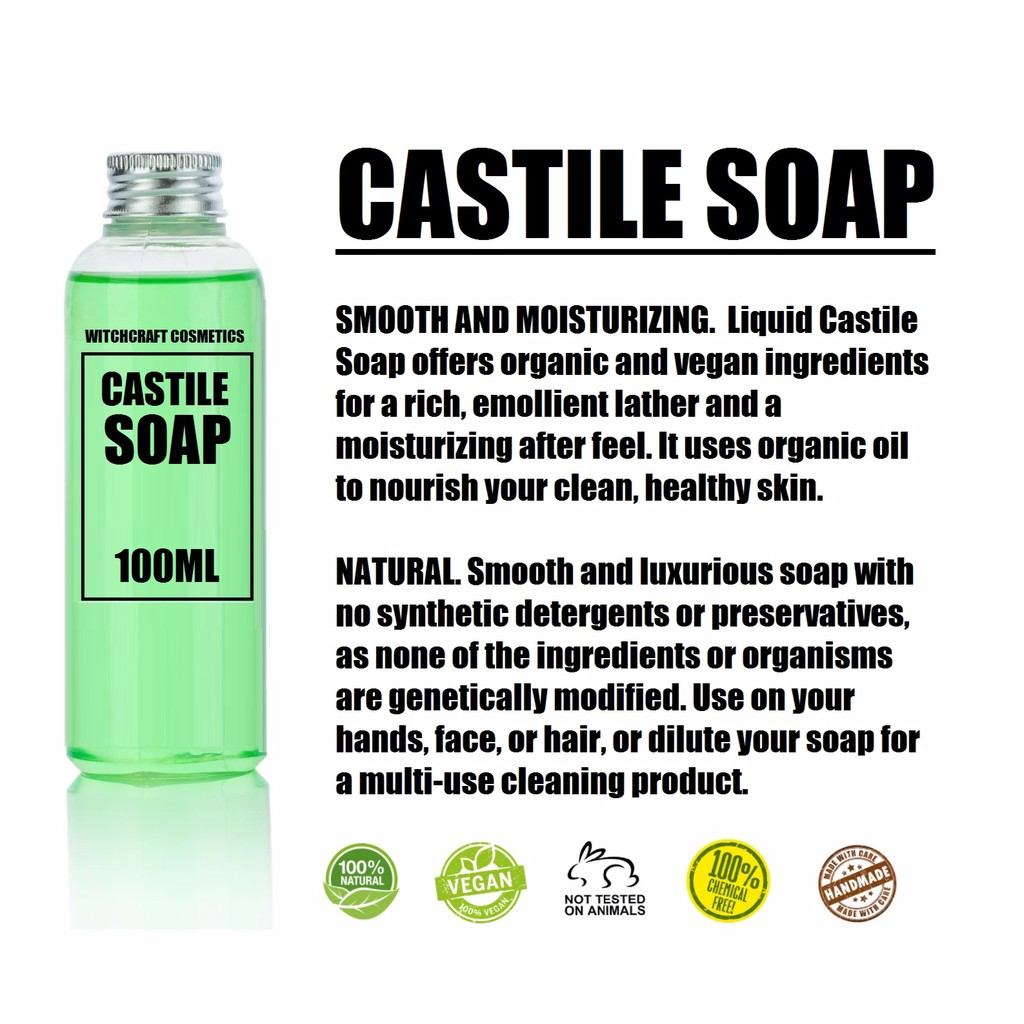 Liquid Castile Soap natural chemical free