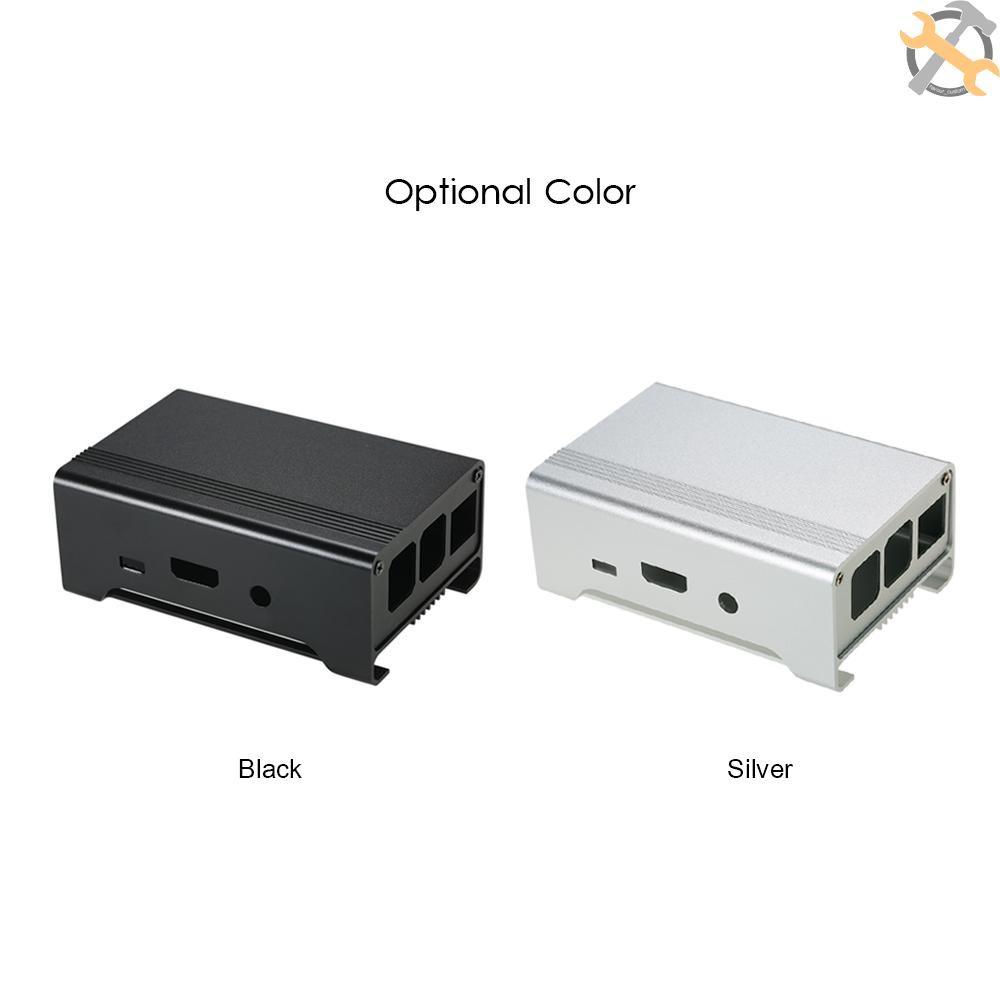 Fan for Raspberry PI 3 Pi 2 B+ Sliver Aluminum Alloy Case Shell Enclosure Box
