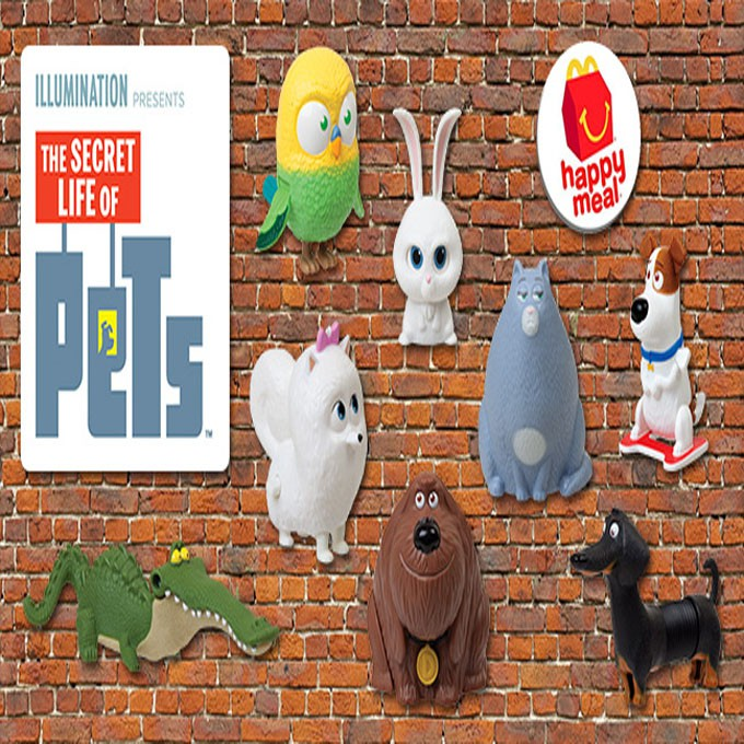 Mcdo Happy Meal Toy The Secret Life Of Pets 2016 Sold Per Piece Shopee Philippines