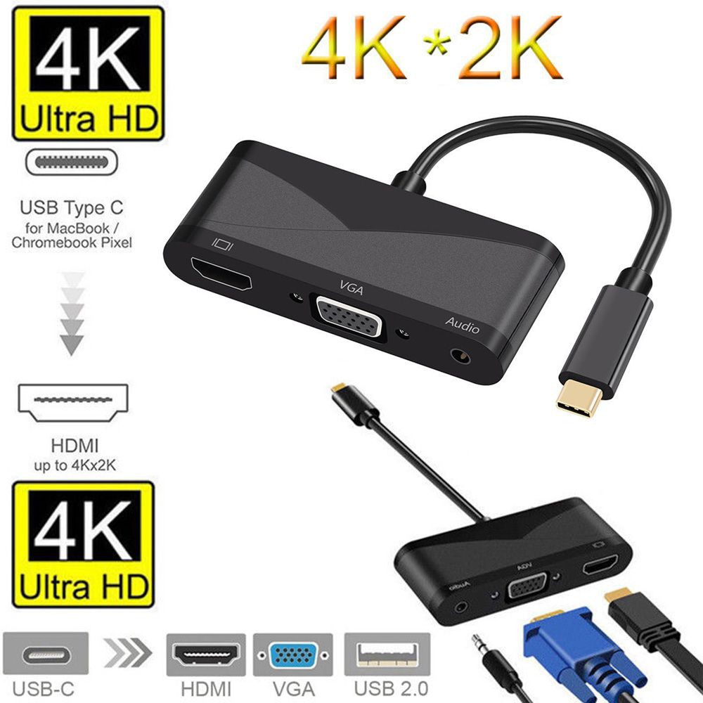 USB 3 1 Type-C To HDMI VGA for Laptop Macbook Mobile Phone