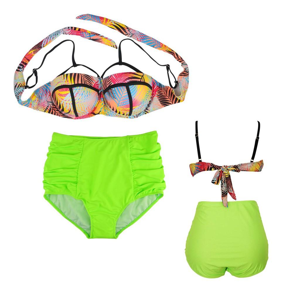 b2b819290f3ce ProductImage. ProductImage. Womens Plus Size Swimwear Bathing Suits High  Waist Bikini Yel
