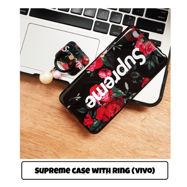 save off 3aac2 4cd47 Supreme Case with Ring for Vivo Y53