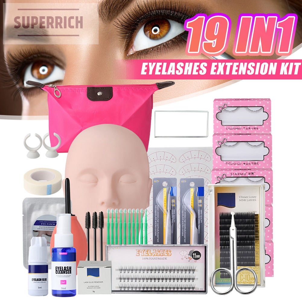 19pcs Set Eyelash Extension Practice