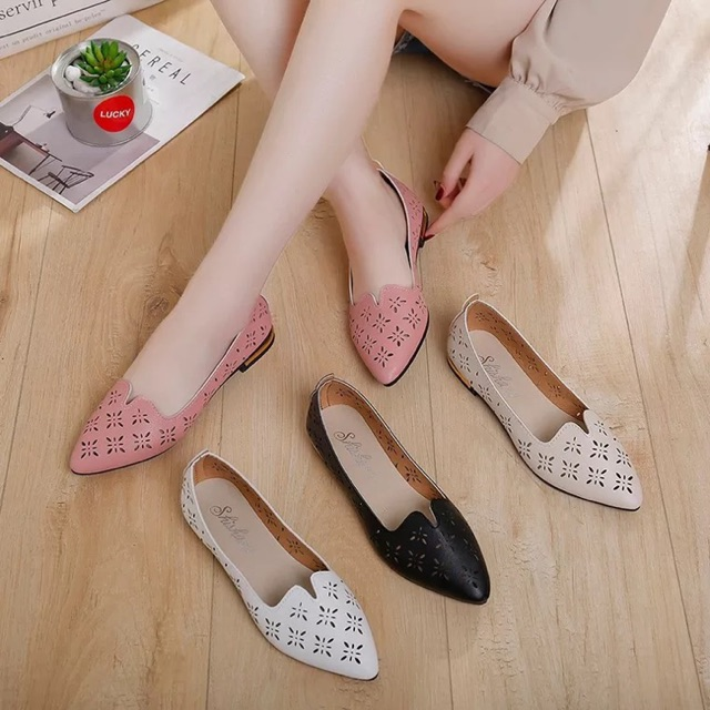 005163b211ba7 Casual pointed toe loafers shallow work shoes flat shoes